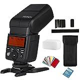 Godox TT350F Flash Mini Thinklite TTL para cámaras de alta velocidad 1/8000s GN36 y VFOTO Papel de limpieza de objetivos para cámara digital Fuji
