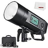 Godox AD400Pro Flash TTL de 400 W para exteriores con sistema inalámbrico GN72 1/8000 HSS integrado, funciona con pilas y luz de modelado LED para Canon / Nikon / Sony / Olympus / Panasonic