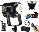 Godox VL150 150W nuevas luces LED, luz de día 5600K, CRI 96+, TLCI 95, para fuente de luz ideal, fotografía de recién nacido, retrato, fotografía de bodegón, estudio entrevista iluminación video filmación +puerta de granero BD-04