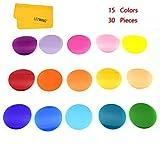 Godox V-11C - Filtros de color, 30 piezas, filtros de corrección de temperatura de color, utilizados con AK-R16 o AK-R1, compatible con Godox V1 Flash y Godox AD200Pro Godox AD200