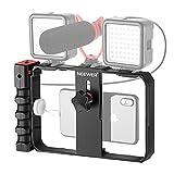 Neewer Plataforma Video Estabilizador Cámara Teléfono Estuche de Filmación Soporte Trípode de Agarre para Videomaker Film-Maker Video-grapher para iPhone 11 11 Pro 11 Pro MAX X XS Huawei Samsung
