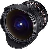 Samyang F1112109101 - Objetivo fotográfico DSLR para Micro Cuatro Tercios (Distancia Focal Fija 12mm, Apertura f/2.8-22 ED AS NCS, Ojo de Pez), Negro