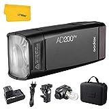 Godox AD200Pro TTL Pocket Flash 200 WS 2.4G HSS 1/8000s Flash estroboscópico Doble Cabeza con batería de Litio de 2900 mAh Compatible con cámaras Nikon, Canon, Sony, Fuji, Olympus, Panasonic y Pentax