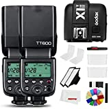 Godox TT600 2.4G Wireless Camera Strobe Flash Light GN60 - Flash maestro y esclavo con disparador Speedlite integrado