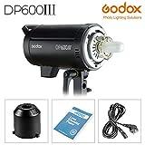 Godox DP600III Professional Flash de Estudio, 220 V 600 W GN80 5600 K, 1 s Reciclaje rápido, 2,4 G, Sistema inalámbrico X con lámpara Bowens Mount 150 W, Estabilidad de Salida excepcional (DP600III)