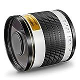 Walimex Pro - Objetivo réflex para Montura Nikon Z (500 mm, 1:6,3, para Sensor de Formato Completo, diámetro del Filtro 34 mm, Incluye Tapa Protectora), Color Blanco