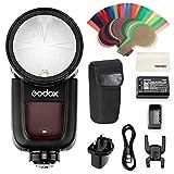 Godox V1-N - Flash de Cabeza Redonda para cámaras Nikon D800 D700 D7100 D7000 D5200 D5100 D5000 D300 D300S D3200 D3100 D3000 D200 D70S D810 D610 D90 D750
