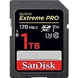 SanDisk Extreme PRO - Tarjeta de memoria SDXC de 1 TB, hasta 170 MB/s, UHS-I, Class 10, U3, V30