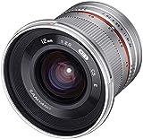 Samyang F1220509102 - Objetivo fotográfico CSC-Mirrorless para Micro Cuatro Tercios (Distancia Focal Fija 12mm, Apertura f/2-22 NCS CS, diámetro Filtro: 67mm), Plateado