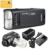Godox AD200 200Ws 2.4G TTL Flash Strobe 1/8000 HSS Sin Cable Monolight con 2900mAh Litio Batería y Bolsillo Flash Cabeza para Cubra 500 Completas Potencia Tiros y recicle en 0.01-2.1 Sec