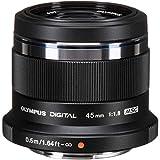 Olympus V311030BE000 - Objetivo para Micro Cuatro Tercios ED 45 mm f/1,8 , color negro