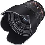 Samyang F1111106101 - Objetivo fotográfico DSLR para Sony E (Distancia Focal Fija 50mm, Apertura f/1.4-22 AS UMC, diámetro Filtro: 77mm), Negro