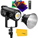 Godox SL200WII 200Ws 5600K Luz de vídeo LED balanceada con la luz diurna, ventilador ultra silencioso, CRI 96 TLCI 97, 0% -100% alcance de la luminosidad, 8 efectos especiales preestablecidos