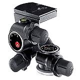 Manfrotto Rótula de Cremallera Junior, Cabezal para Trípode con 3 Ejes de Movimiento de Alta Precisión para Equipamiento de Fotogradía y Cámara, Creación de Contenidos, Vlogging