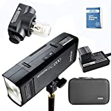 Godox AD200 La più recente Flash Light Pocket da 2,4G TTL 200W TTL HSS 1 / 8000s Flash Light Flash Light con testina Flash Light (GN 52), (GN 60),2900 mAh