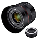 Samyang 45mm f/1.8 para Sony E-mount + lens station valorado en 60€