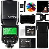 Godox Ving V850II GN60 2.4G 1 / 8000s HSS Flash de cámara Flash Speedlight con 2000mAh Recargable Batería para Canon Nikon Pentax Olympas (V850II)