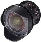Samyang F1312606101 - Objetivo para vídeo VDSLR para Sony E (Distancia Focal Fija 14mm, Apertura T3.1-22 ED AS IF UMC II), Negro