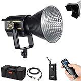 Godox VL150 150 - Luces LED (150 W, luz de día, 5600 K, CRI 96+, TLCI 95, para fuente de luz ideal, fotografía de recién nacido, retrato, fotografía de vida muerta, iluminación de estudio de entrevista de vídeo+BD-04 puerta de granero