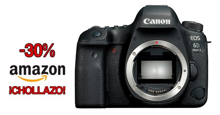 Canon 6D Mark II a su mínimo histórico en Amazon.