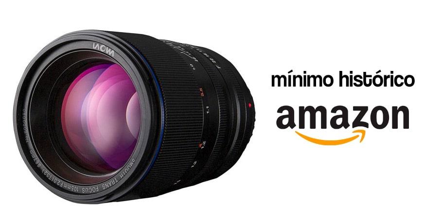 Laowa 105mm f2, mínimo histórico en Amazon.
