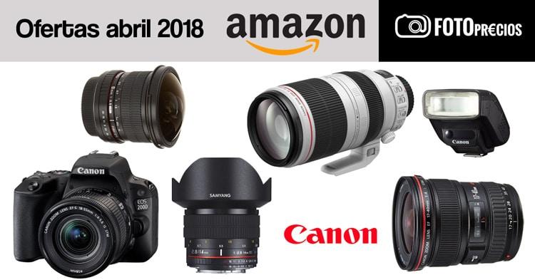 Mejores precios para CAnon. Abril 2018.