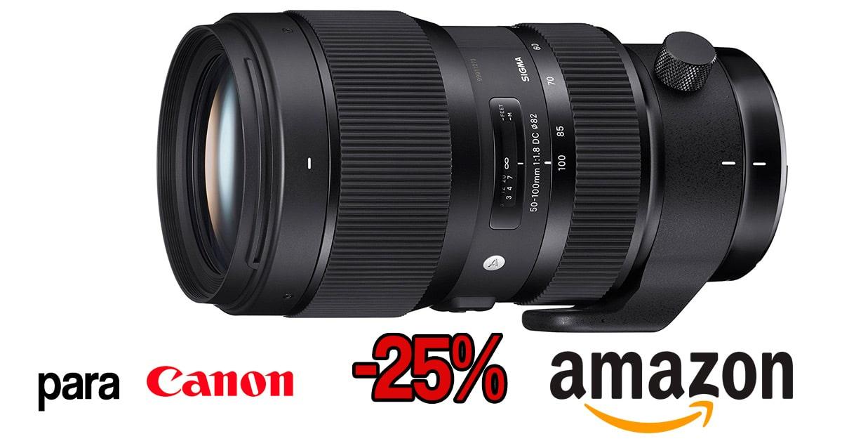 Sigma 50-100mm para Canon en mínimo histórico.