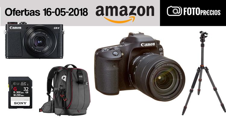 Ofertas fotográficas del 16 de mayo en Amazon.