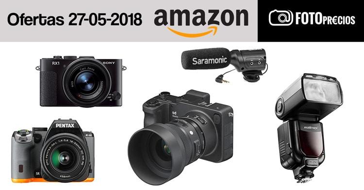 Ofertas fotográficas del 26 de mayo en Amazon.