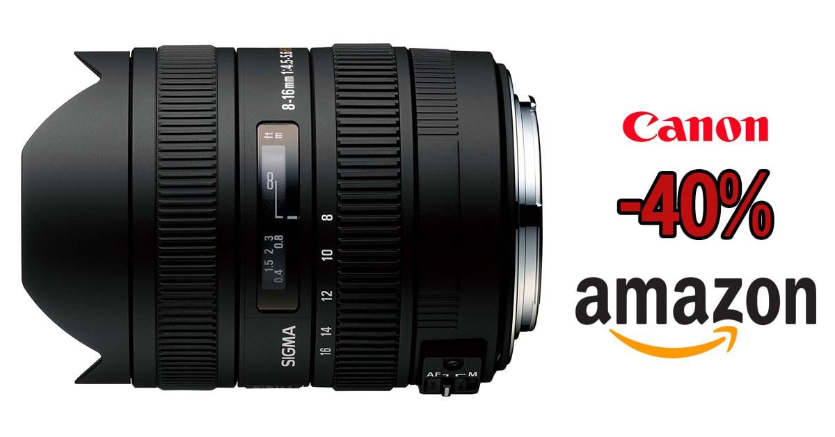Sigma 8-16mm Canon, precio mínimo en Amazon.