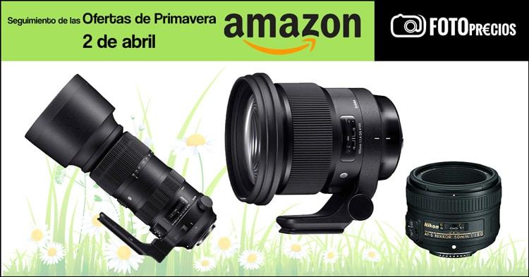 Seguimiento ofertas de primavera Amazon, 2 de abril.