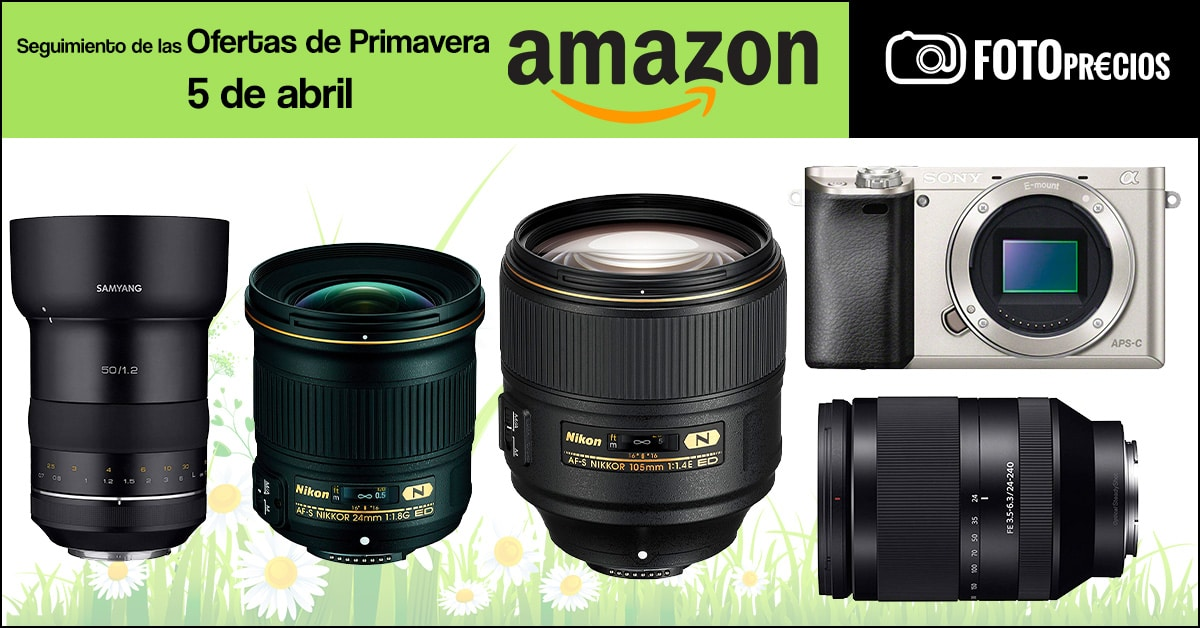 Seguimiento ofertas de primavera Amazon, 5 de abril.