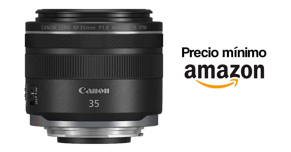 Precio mínimo en Amazon por el Canon RF 35mm F1.8 STM IS.