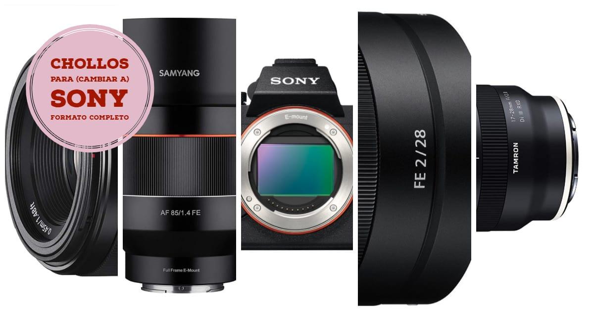 Mejores cámaras y objetivos Sony E.