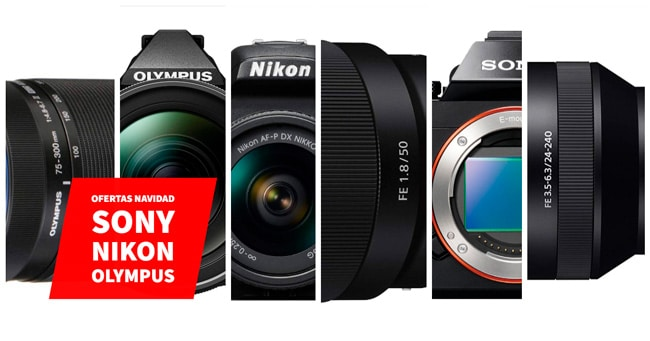 Ofertas de NAvidad Sony, Olympus, Nikon