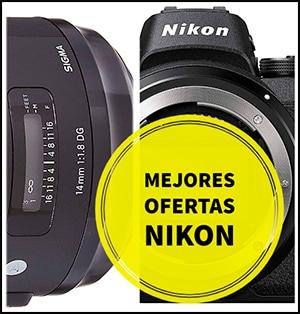 Mejores ofertas en cámaras y objetivos Nikon.
