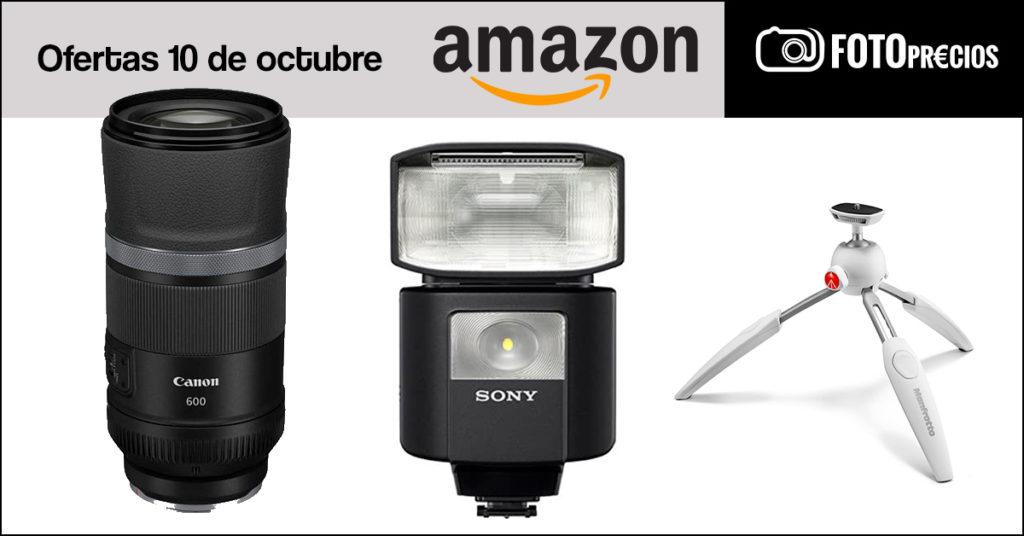 Fotoprecios mínimos del 10 de octubre en Amazon: flash Sony HVL-F45RM, Canon RF 600mm...