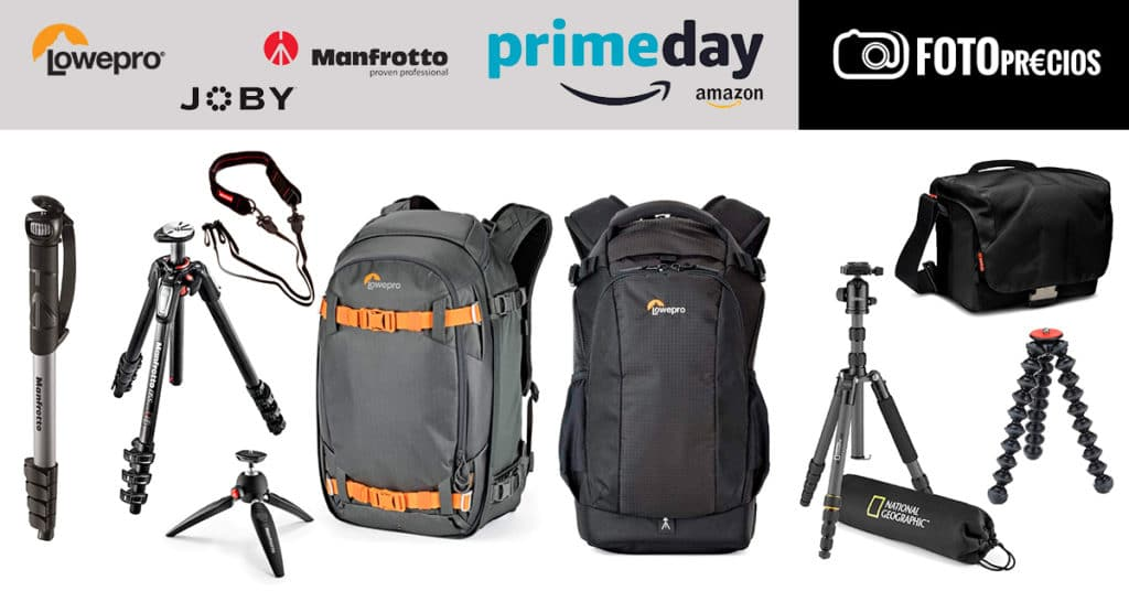Ofertas de Lowepro, Manfrotto y Joby en Amazon Prime Day 2020.