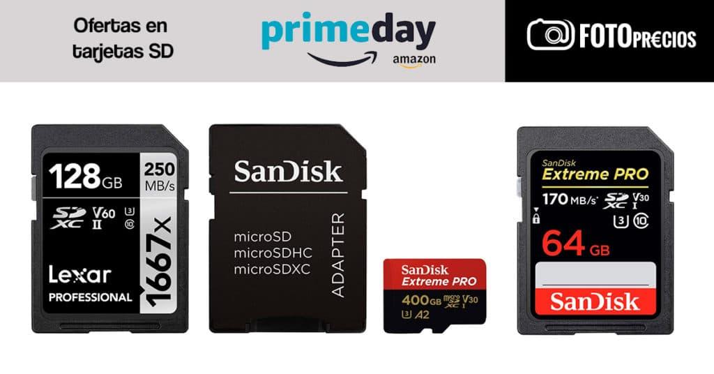 Ofertas Prime Day 2020 en tarjetas SD para fotografía.