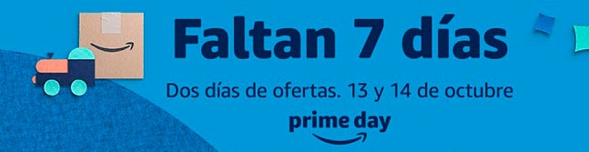7 día para Amazon Prime Day 2020.