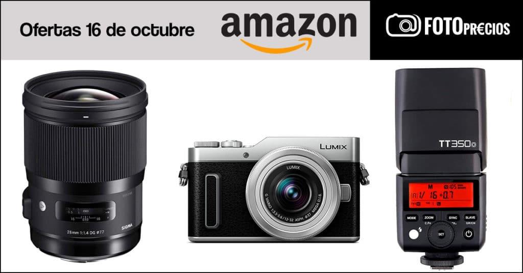 FotoPrecios mínimos en Amazon del 16 de octubre: sigma 28mm F1.4 y Lumix GX880.