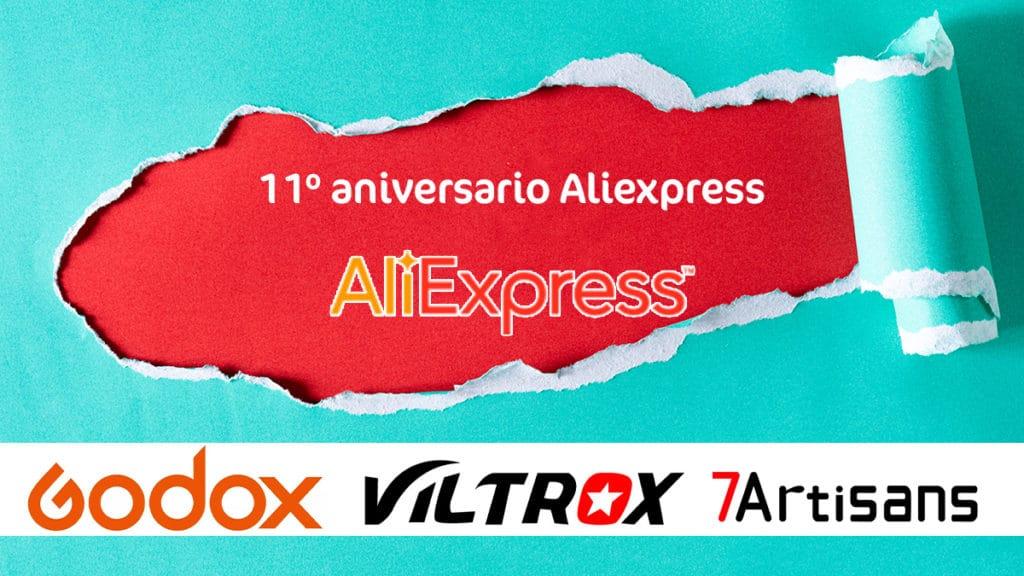 11º aniversario de Aliexpress. Rebajas en fotografía.