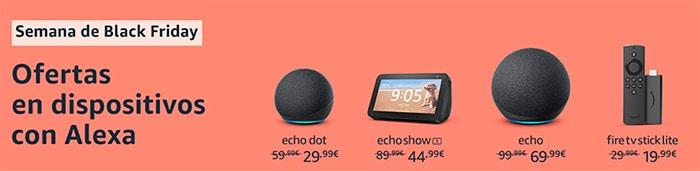 Ofertas en Amazon Alexa Black Friday 2020.
