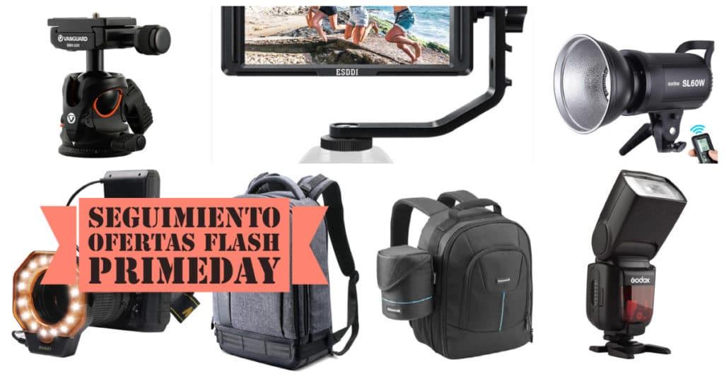 Seguimiento de ofertas flash del PrimeDay 2021 en fotografía, cámaras y objetivos.