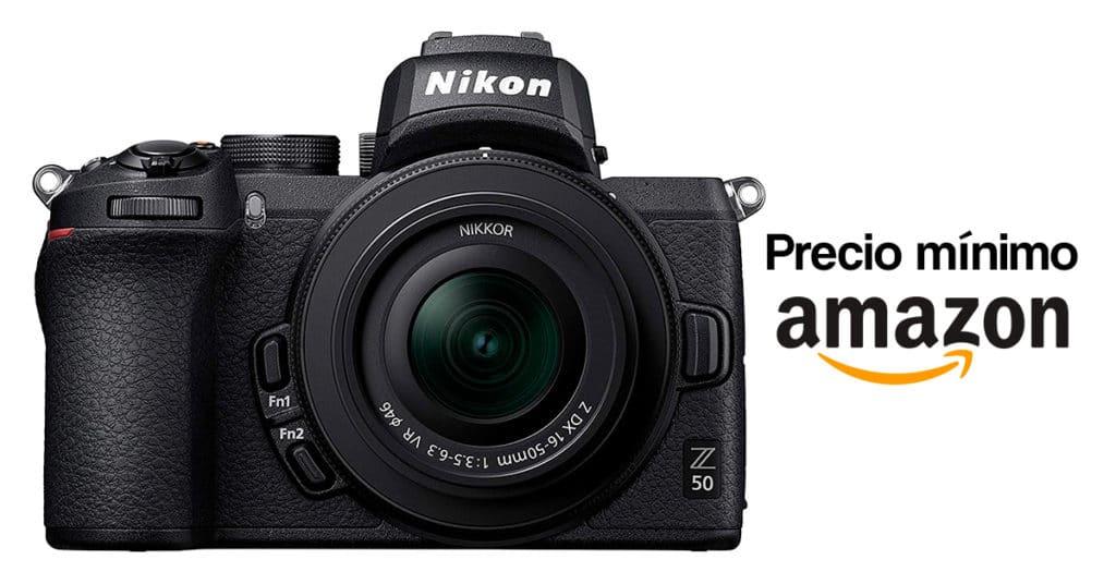 Precio más barato en Amazon por la Nikon Z50.