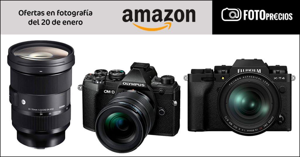 Ofertas en fotografía de Amazon: Fujifilm X-T4, Olympus E-M5 III, Sigma para Sony E Mount.