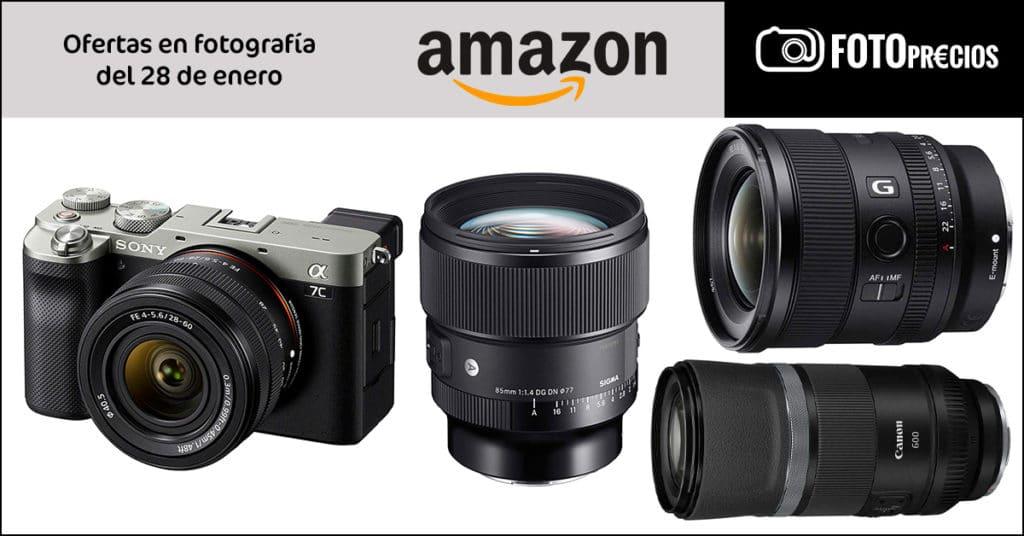 Precios mínimos Sony A7C, Sigma 85mm F1.4 Sony E, Sony 20mm F1.8, Canon RF 600mm en Amazon.