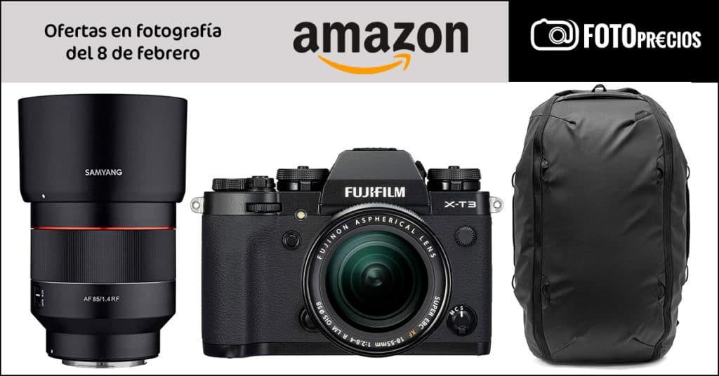 Precios mínimos de fotografía en amazon: Fujifilm X-T3, Samyang 85mm F1.4 Canon RF, mochila peak Design...