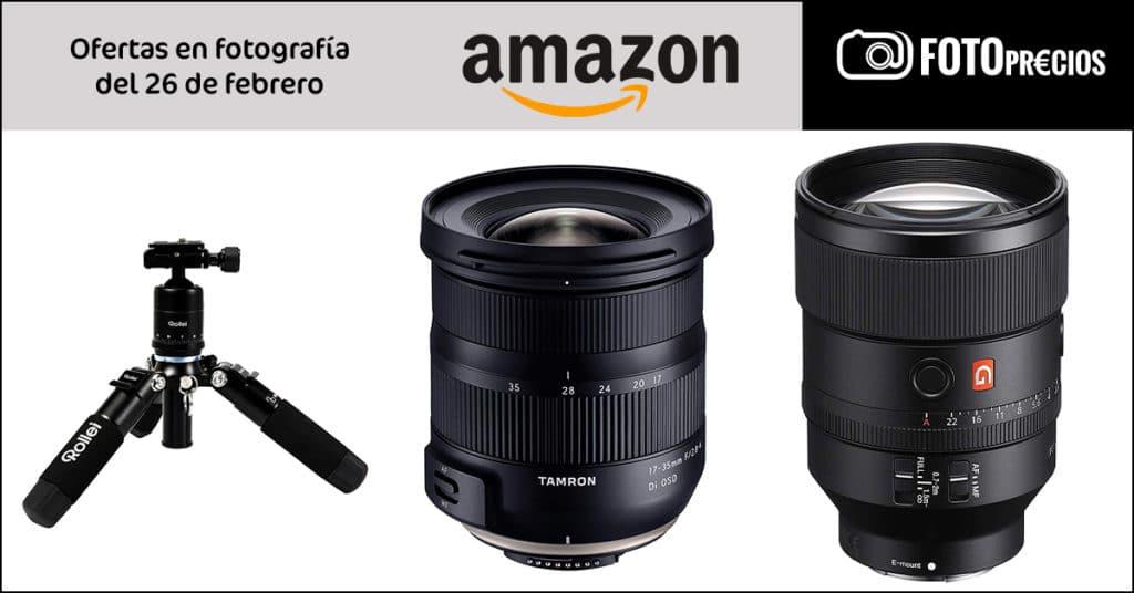 Precios mínimos en Sony FE 135mm F1.8 GM, Tamron 17-35mm F2.8-4 Nikon...