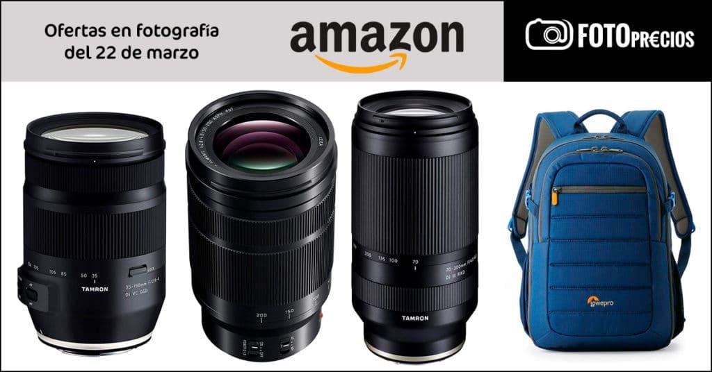 FotoPrecios mínimos del 22 de marzo: Panasonic Leica 50-200 F2.8-4, Tamron 35-150mm Canon, Tamron 70-300mm Sony, LowePro, Manfrotto...